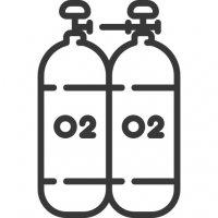 Φιάλες ιατρικού οξυγόνου