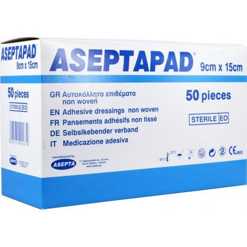 Επιθέματα αυτοκόλλητα ASEPTAPAD (non woven) 9cm x 15cm (50τμχ) 130-212