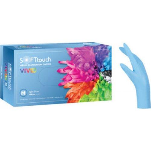 Soft Touch Vivid Γάντια Νιτριλίου - Γαλάζιο 100τμχ 110.271