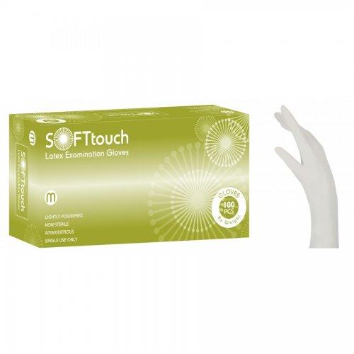 Soft Touch Sense λευκό με πούδρα  100τμχ 110.203