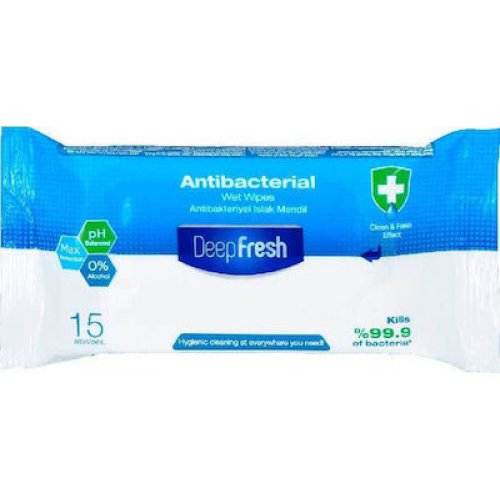 Αντιβακτηριακά Μαντηλάκια Καθαρισμού Deep Fresh 15τεμ  27215