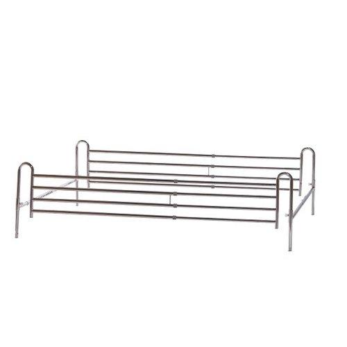 Κάγκελα Εξωτερικά Πτυσσόμενα διπλου Κρεβατιού (100 -170cm)  Mobiakcare  0806669