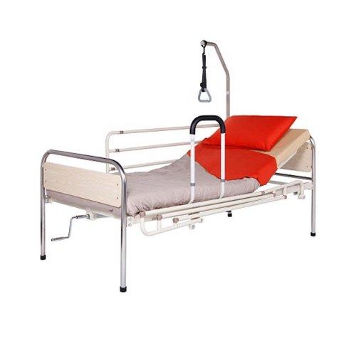 Κρεβάτι μεταλλικό Μονόσπαστο Μπεζ  Mobiakcare 0810069