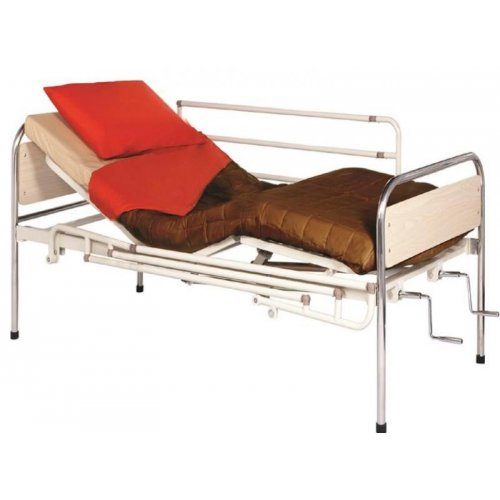 Κρεβάτι μεταλλικό Πολύσπαστο Μπεζ (χωρίς κάγκελα και Ρόδες) Mobiakcare 0810071